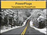PowerPoint Template - hilly country roads,covered with black ice & snow