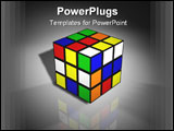 PowerPoint Template - A Rubix Cube in Super High Resolution with 800DPI. Rendered in Cinema 4D.