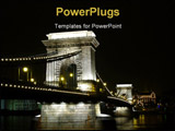 PowerPoint Template - Chain bridge at Budapest by dark night