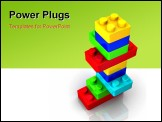 PowerPoint Template - Colorful lego toy blocks on white background - 3d render