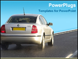 PowerPoint Template - car on road