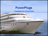 PowerPoint Template - ship in sea