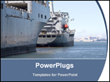 PowerPoint Template - cargo ship in sea