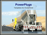 PowerPoint Template - truch carring construction equipment