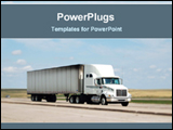 PowerPoint Template - truch on the road for transport