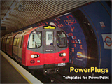 PowerPoint Template - metro train at a station