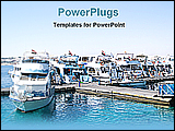 PowerPoint Template - Egyptian boats on berth river