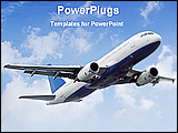 PowerPoint Template - a airplane fly the sky