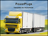 PowerPoint Template - a giant truck racing on a country road