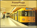 PowerPoint Template - train in the metro station
