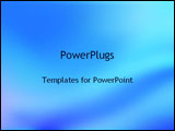 PowerPoint Template - abstract waves of blue