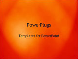 PowerPoint Template - glowing fiery red