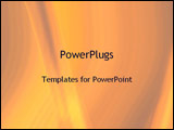 PowerPoint Template - streaks of orange and yellow