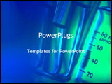 PowerPoint Template - chemicals in test tubes