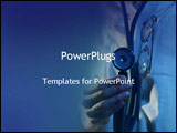 PowerPoint Template - doctor with stethoscope
