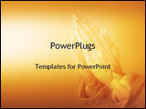 PowerPoint Template - Hands praying: