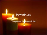 PowerPoint Template - lite candles
