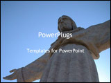 PowerPoint Template - statue of christ