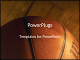 PowerPoint Template - Close up of basketball