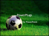PowerPoint Template - Soccer ball on the field