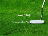 PowerPoint Template - Golf club on grass