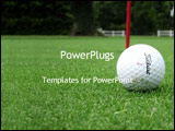 PowerPoint Template - golf ball on golf course