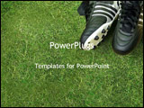PowerPoint Template - golf shoes on course