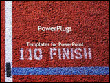 PowerPoint Template - Finish line on field
