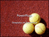 PowerPoint Template - Three tennis balls