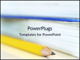 PowerPoint Template - pencil and books in the background