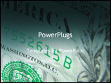 PowerPoint Template - abstract image of currency