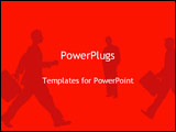 PowerPoint Template - silhouette of businessmen walking
