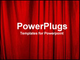 PowerPoint Template - red curtains