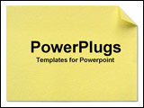 PowerPoint Template - yellow post-it note