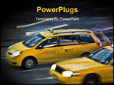 PowerPoint Template - blurred nyc taxi cab during the rush hour in motion