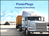 PowerPoint Template - freight truck carrying goods
