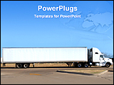 PowerPoint Template - a big truck on the road