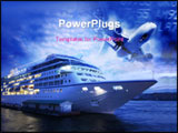 PowerPoint Template - ocean liner at st. petersburg\