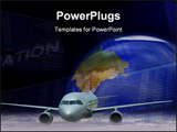 PowerPoint Template - Conceptual representation of air travel flying modern technology globalization and connectivity