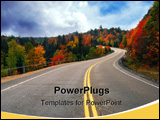 PowerPoint Template - Fall scenic highway in northern Ontario Canada