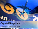 PowerPoint Template - Collage of airplane images.