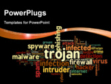 PowerPoint Template - Trojan concept in word tag cloud on black background