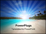 PowerPoint Template - Beach in the South Pacific