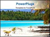 PowerPoint Template - tropical beach in the cook islands