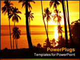 PowerPoint Template - tropical sunset with trees silhouette on camiguin islands
