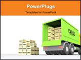 PowerPoint Template - cargo-truck #1.