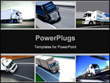 PowerPoint Template - A montage of several photos of trucks