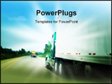 PowerPoint Template - Passing a transportation truck on a highway