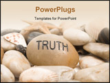 PowerPoint Template - stone unscripted with truth isolated on a white background