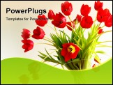 PowerPoint Template - red tulips in a vase